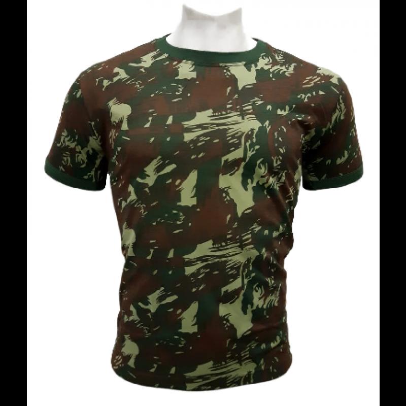 Camiseta Camuflada O Infanti Padrão E.B 100% Algodão 215964be4e6
