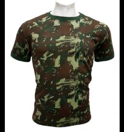 Camiseta Camuflada O Infanti Padrão E.B 100% Algodão