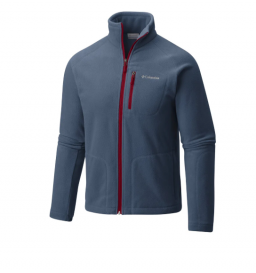 Jaqueta Fleece Columbia Masculina Fast Trek - índigo/bordo (478)