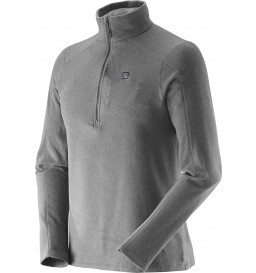 Blusa Fleece Salomon Polar Cinza Masculina