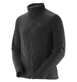 Jaqueta Fleece Salomon Polar Preto Masculina