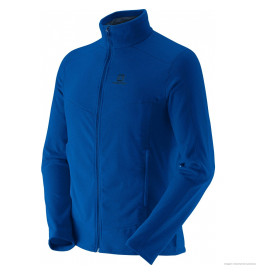 Jaqueta Fleece Salomon Polar Azul Younder Masculina