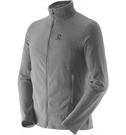 Jaqueta Fleece Salomon Polar Cinza Masculina