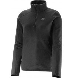 Blusa Fleece Salomon Polar Preto Feminina