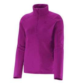 Blusa Fleece Salomon Polar Roxo Feminina