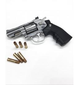 REVOLVER DE PRESSÃO CO²  WIN GUN - ROSSI - 708S 2 4.5mm