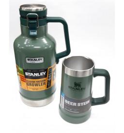 1 GROWLER STANLEY + 1 CANECA STANLEY STEIN   - VERDE